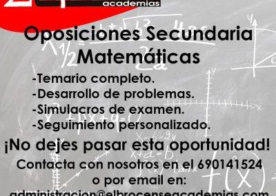 Oposiciones Secundaria Matemáticas